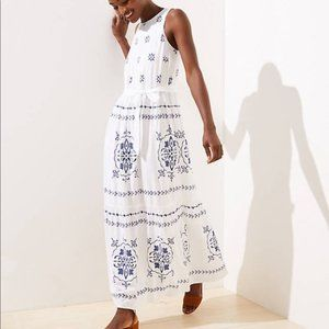 *HP*Loft Mosaic Sleeveless Boho Maxi Dress